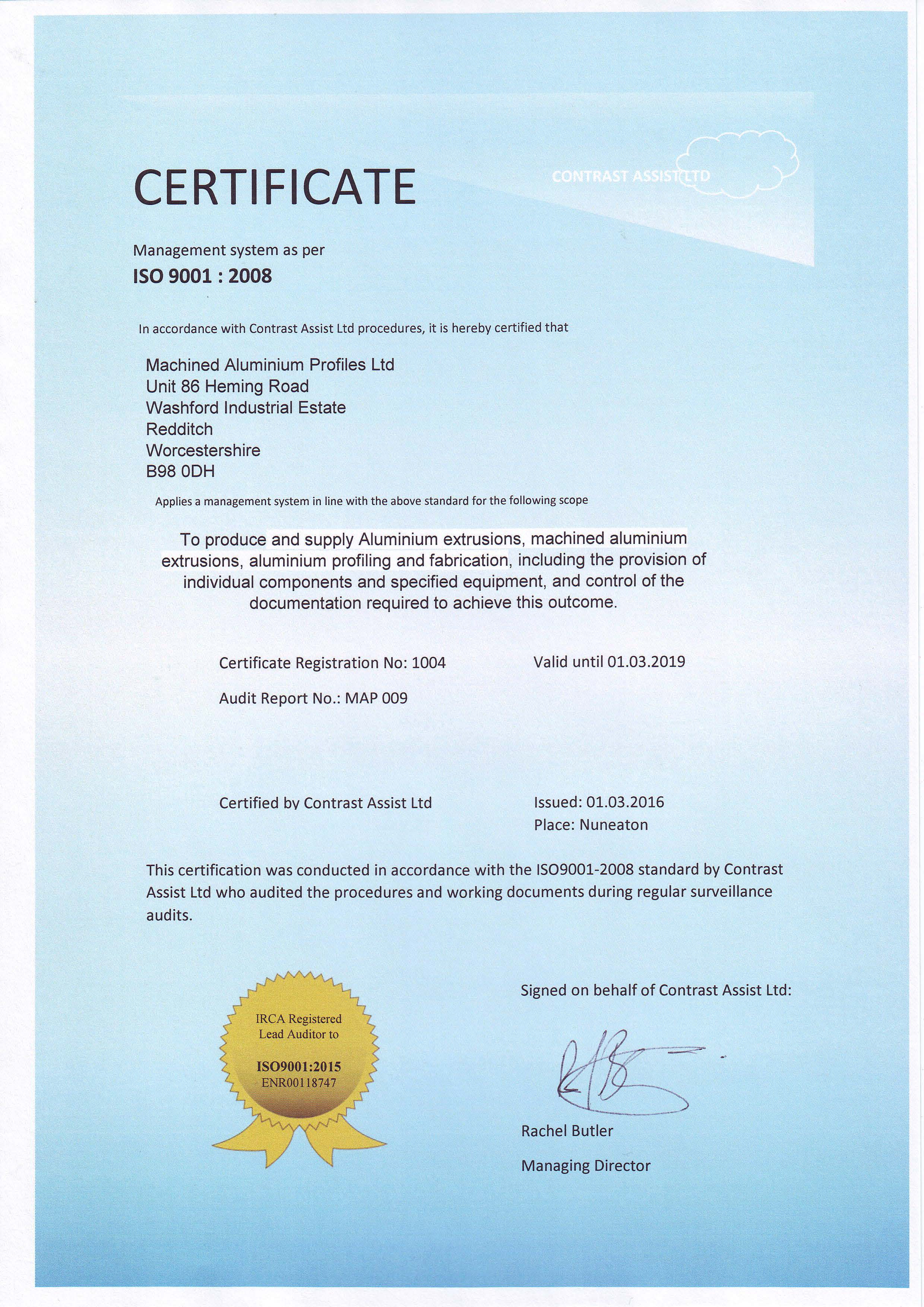 ISO9001-2008certificate